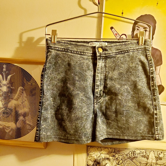 American Apparel high waist acid wash shorts